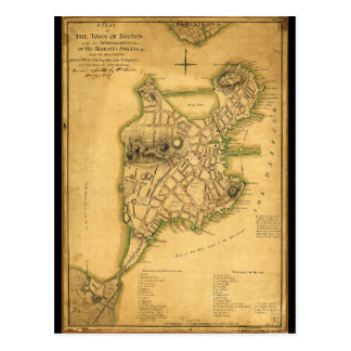 Un plan de la ville de la carte de Boston (1775)