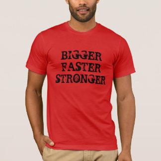 """Un """"plus grand"""" T-shirt plus fort plus rapide"""