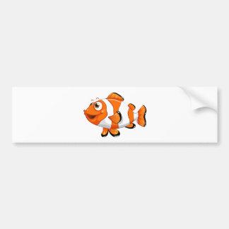 Un poisson de nemo autocollant de voiture