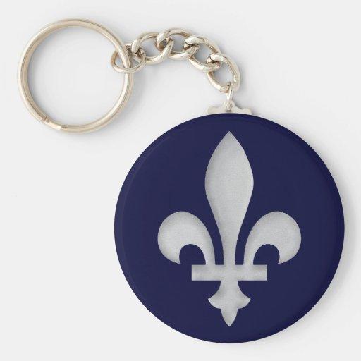 Un porte - clé de l'argent Fleur-De-lys Porte-clef