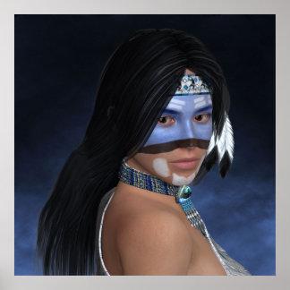 Un portrait bleu américain affiche