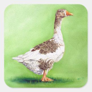 Un portrait d'une oie sticker carré