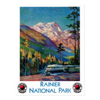 Un poster vintage plus pluvieux de parc national carte postale