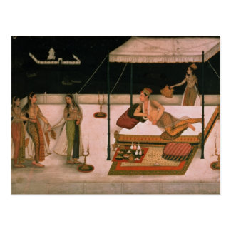 Un prince de Mughal recevant une dame la nuit Carte Postale