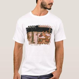 Un prince de Mughal recevant une dame la nuit T-shirt