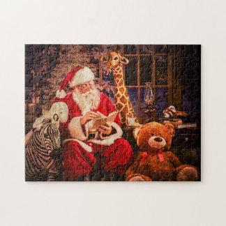 Un puzzle, le père noël avec Aninals bourré Puzzle