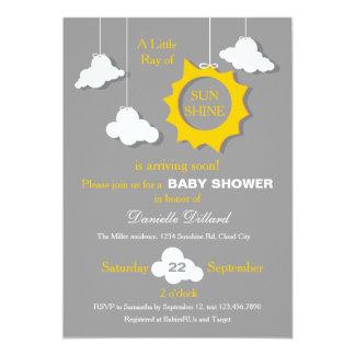 Un rayon d'invitation de baby shower de soleil carton d'invitation  12,7 cm x 17,78 cm