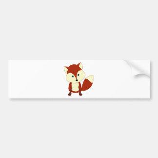 Un renard rouge mignon autocollant de voiture
