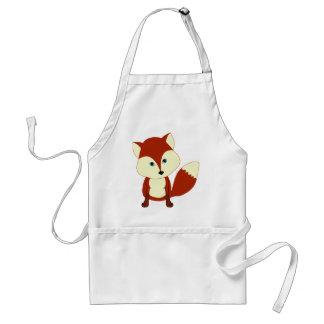 Un renard rouge mignon tabliers