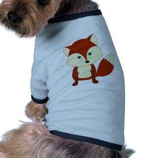 Un renard rouge mignon t-shirts pour animaux domestiques