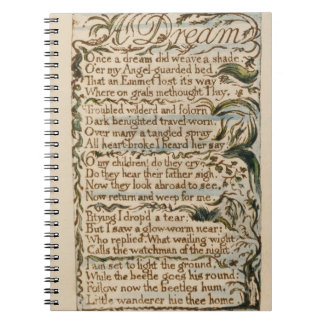 Un rêve, illustration des 'chansons de l'innocence carnet à spirale