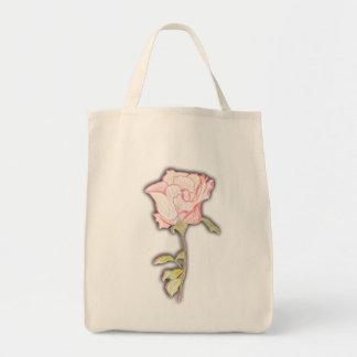 Un rose entre 2 épines sacs en toile