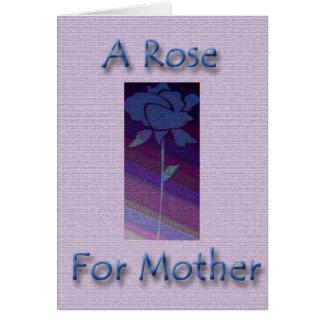 Un rose pour la mère carte de vœux