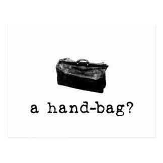 Un sac à main ? carte postale