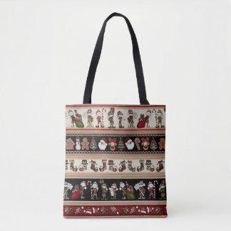 Un sac fourre-tout à Noël de Noël d'art populaire