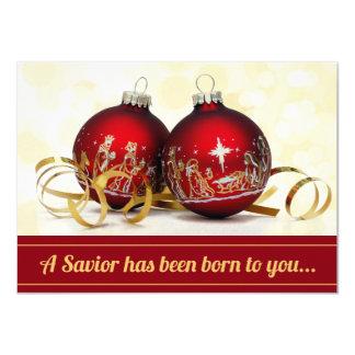 Un sauveur a été ornement né de Noël de nativité Bristols