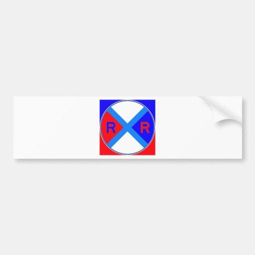 Un signe rouge, blanc, et bleu autocollants pour voiture