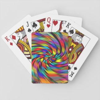 Un soleil coloré jeu de cartes