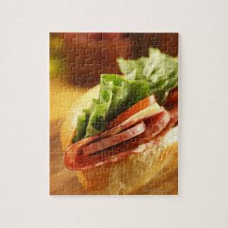 Un sous sandwich italien avec puzzle