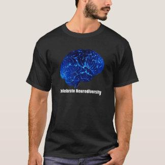 un T-shirt bleu de cerveau de Neurodiversity de