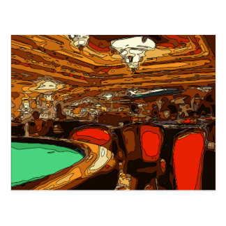 Un Tableau de Black Jack au coeur d'un casino de Carte Postale