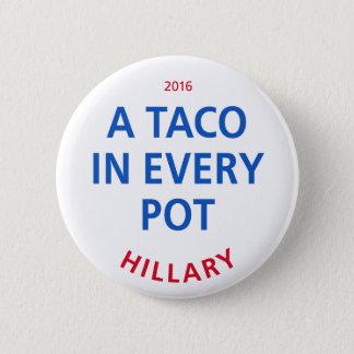 """Un taco bouton dans chaque ¼ du pot 2"""" badge"""