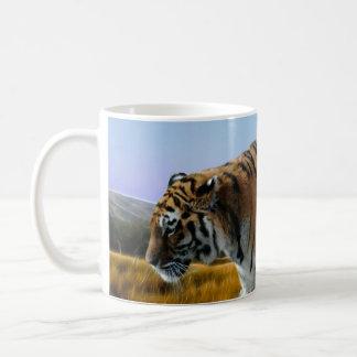 Un tigre aime l'eau mug blanc