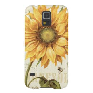 Un tournesol jaune protections galaxy s5