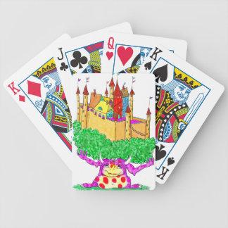 Un troll et un château jeu de cartes