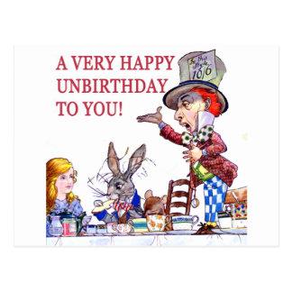 Un Unbirthday très heureux à vous ! Cartes Postales