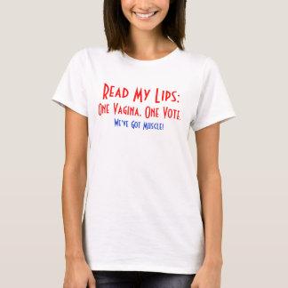 Un vagin, un T-shirt des femmes de vote