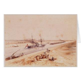 Un vapeur de palette turc allant le canal de Suez Carte De Vœux