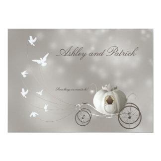 Un véritable mariage de conte de fées carton d'invitation  12,7 cm x 17,78 cm