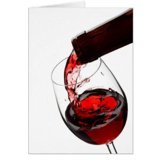 Un verre de vin rouge carte de vœux
