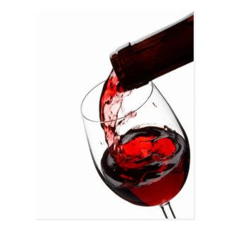 Un verre de vin rouge carte postale