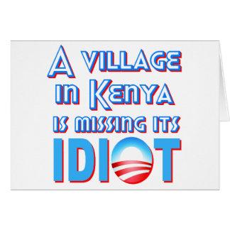 Un village au Kenya manque son idiot Obama Carte De Vœux
