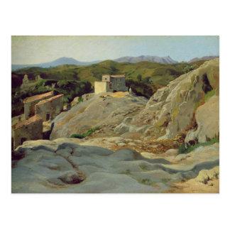 Un village dans les montagnes carte postale