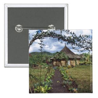 Un village dans les montagnes, Goroka, Papouasie n Pin's