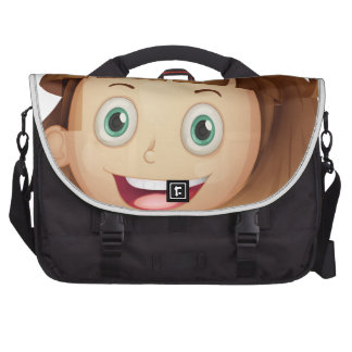 Un visage d'une fille sac ordinateurs portables