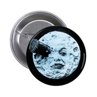 Un voyage à la lune badge avec épingle