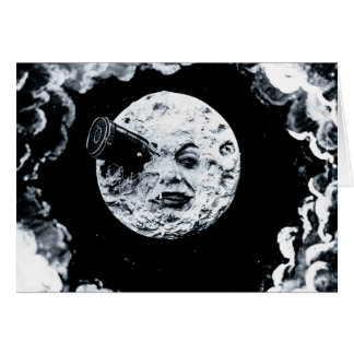 Un voyage à la lune carte de vœux