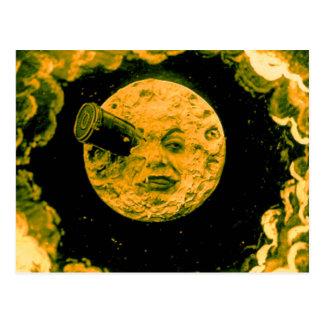 Un voyage à la lune carte postale