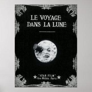Un voyage à la lune ou à la La Lune de dans de Le Posters