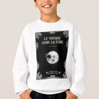 Un voyage cinéma français vintage de lune au rétro sweatshirt