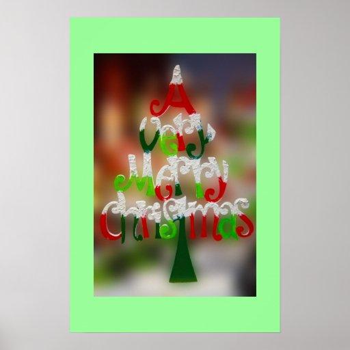 Une affiche de Noël très Joyeux