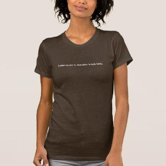 Une alimentation équilibrée est chocolat des deux t-shirt