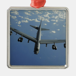 Une Armée de l'Air d'USA B-52 Stratofortress Ornement Carré Argenté