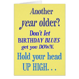 Une autre année plus vieux ? Aucuns bleus de Cartes