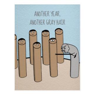 Une autre carte d'anniversaire drôle de cheveux