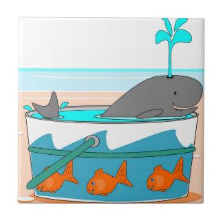 Une baleine dans un seau petit carreau carré